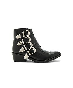 Toga Pulla | Buckled Leather Bootie