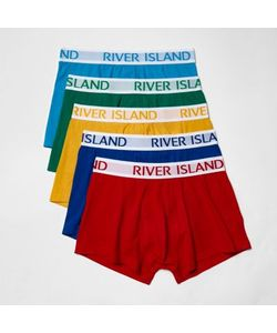River Island | Mensred Multi Colored Hipster Boxers Multipack