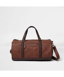 River Island   Soft Faux Leather Holdall Bag