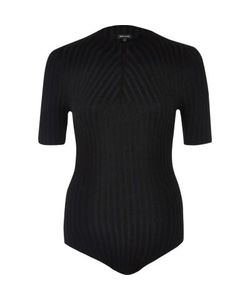 River Island | Ribbed High Neck Bodysuit