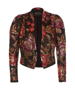 River Island | Jacquard Puff Sleeve Jacket