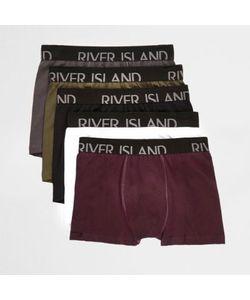 River Island   Branded Trunks Multipack