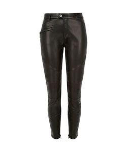 River Island | Leather Look Biker Pants