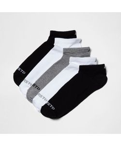 River Island | Mixed Contrast Print Socks Five Pack