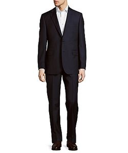 Saks Fifth Avenue | Pinstriped Classic-Fit Wool Suit