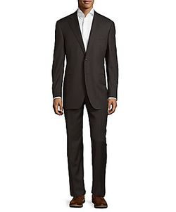 Canali | Regular Fit Striped Wool Suit
