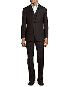 English Laundry | Plaid Wool Single-Breasted Suit