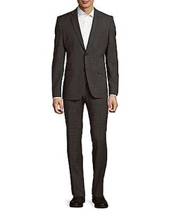 Versace Collection | Slim Fit Textured Wool-Blend Suit
