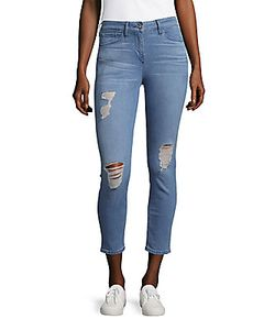 3X1 | Cropped Distressed Jeans