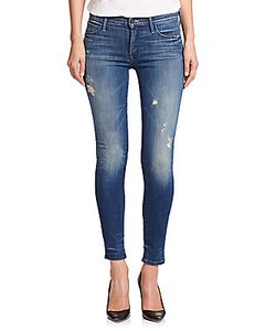Mother | The Charmer Distressed Skinny Jeans