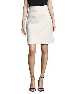 Akris | Solid Cotton A-Line Skirt