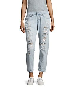 AG Adriano Goldschmied | Nikki Distressed Relaxed Skinny Crop Jeans