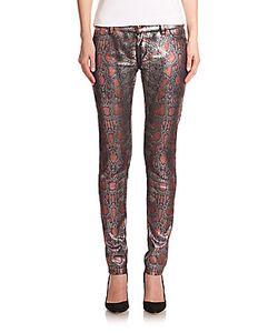 Roberto Cavalli   Snakeskin-Print Skinny Jeans