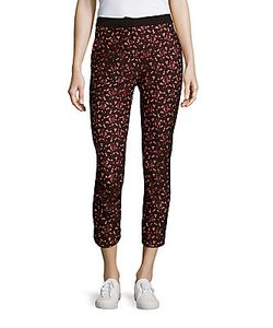Sandro | Printed Cotton-Blend Cropped Pants