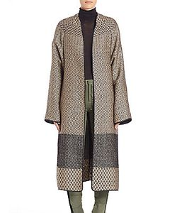 Haider Ackermann | Collarless Jacquard Coat