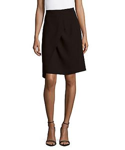 Akris | Solid Drape-Front Skirt