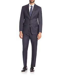 Giorgio Armani | Two-Button Front Virgin Wool Suit