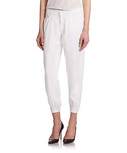 J Brand | Le Baggie Relaxed-Fit Twill Cropped Pants
