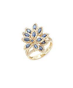 Effy | Diamond Sapphire 14k Ring