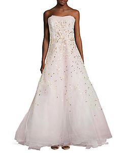 Carolina Herrera | Embellished Strapless Gown