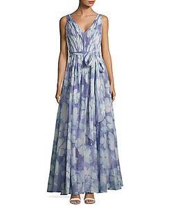 Vera Wang | V-Neck Print Dress