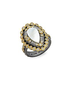 Freida Rothman | Classic Mother-Of-Pearl Studded Sterling Ring