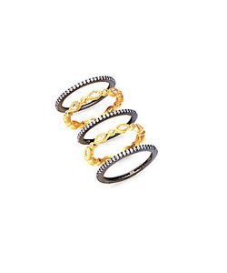 Freida Rothman | Marquise Plated Stackable Rings