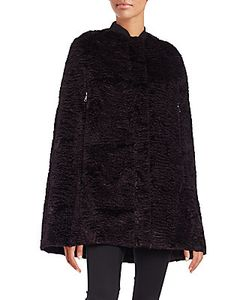 Giamba | Faux Fur Embossed Cape