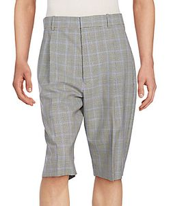 3.1 Phillip Lim | Pleated Checked Wool Walking Shorts