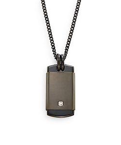 Saks Fifth Avenue | 0.01 Tcw Diamond Stainless Steel Pendant Necklace
