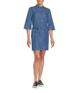 Marc by Marc Jacobs | Belted Chambray Shirtdress