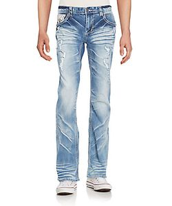 Affliction | Cooper Distressed Straight-Leg Jeans
