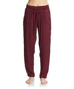 Ondademar | Embroidered Drawstring Pants
