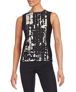 Calvin Klein | Print Paneled Top