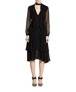 Jason Wu | Silk Chiffon Tiered Dress