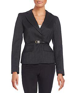 Donna Karan | Belted Wool-Blend Jacket