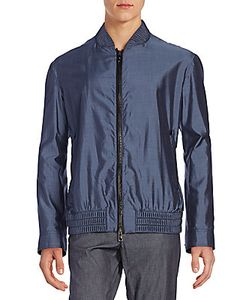 Billionaire Boys Club | Leather Accented-Silk Bomber Jacket