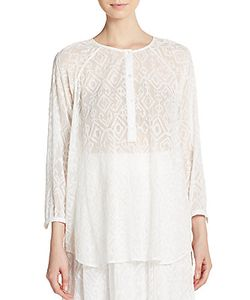 Tess Giberson   Needle Pnt Voile Psnt Top