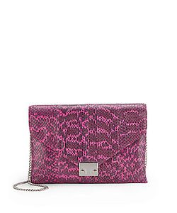 Loeffler Randall | Lock Clutch Elaphe Color D