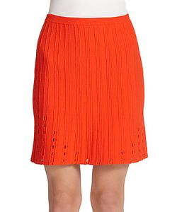 Tanya Taylor | Vick Cutout Ribbed Knit Skirt