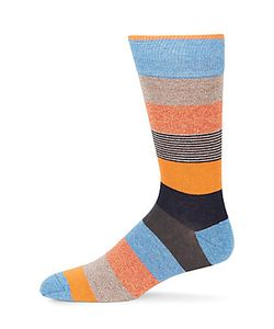 Saks Fifth Avenue | Colorblock Striped Crew Socks
