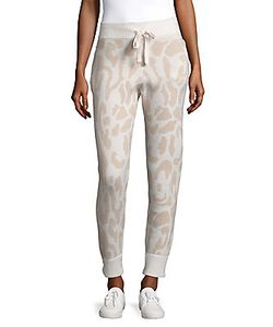 Baja East | Leopard Print Ribbed-Cuff Cashmere Pants