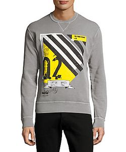 Dsquared2   Printed Long-Sleeve Cotton Sweatshirt