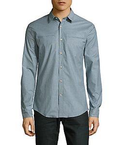 John Varvatos | Long-Sleeve Check Cotton Casual Shirt