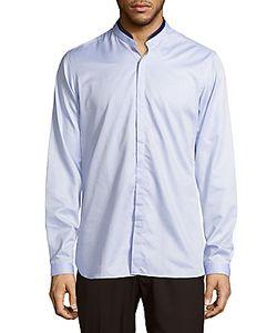 The Kooples | Band Collar Cotton Casual Shirt