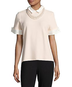 Karl Lagerfeld | Point-Collar Beaded Top