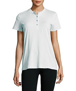 Helmut Lang | Solid Cotton Henley Tee