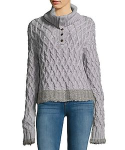 Derek Lam 10 Crosby   Woven Merino Wool Sweater