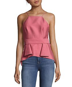 C/Meo | Sleeveless Peplum Top