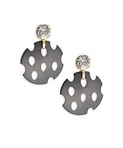 Saks Fifth Avenue | Mesh Chip Crystal Stud Earrings